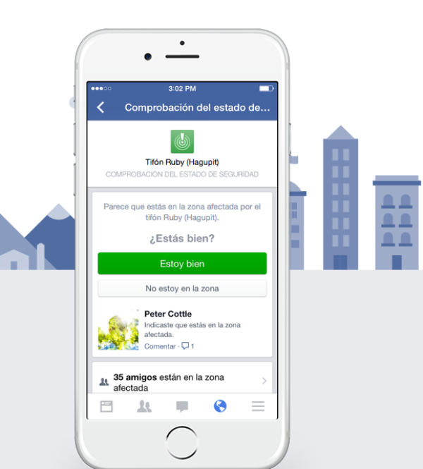 noticias ciencia y tecnología Facebook habilita herramienta de emergencia