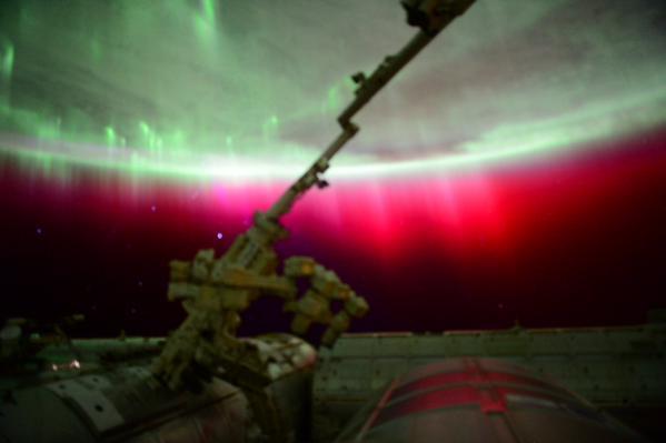 noticias ciencia y tecnología aurora boreal roja