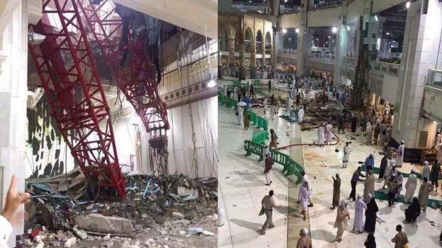 noticias internacional cae grua en mezquita