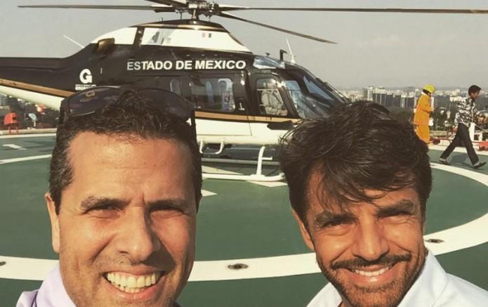 noticias nacional Marco Antonio Regil y Eugenio Derbez viajan en helicóptero oficial