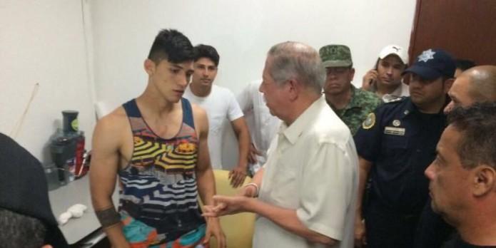 Alan Pulido fue rescatado el fin de semana luego de ser secuestrado el sábado.