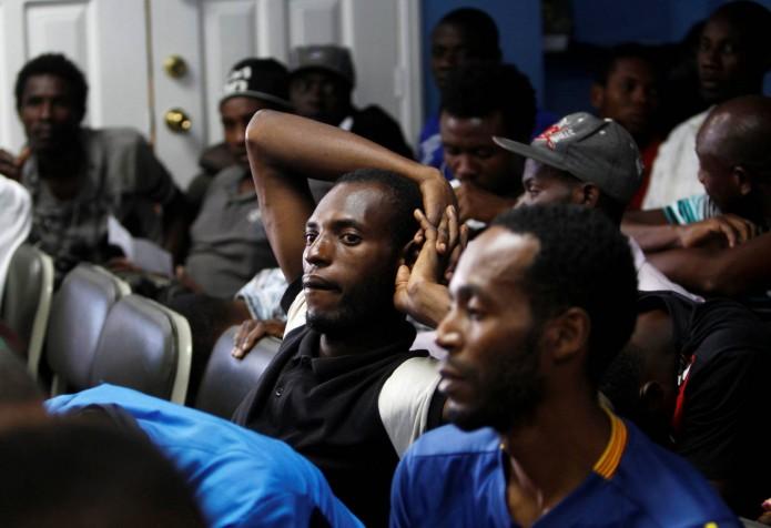 Los migrantes africanos detenidos en Honduras.