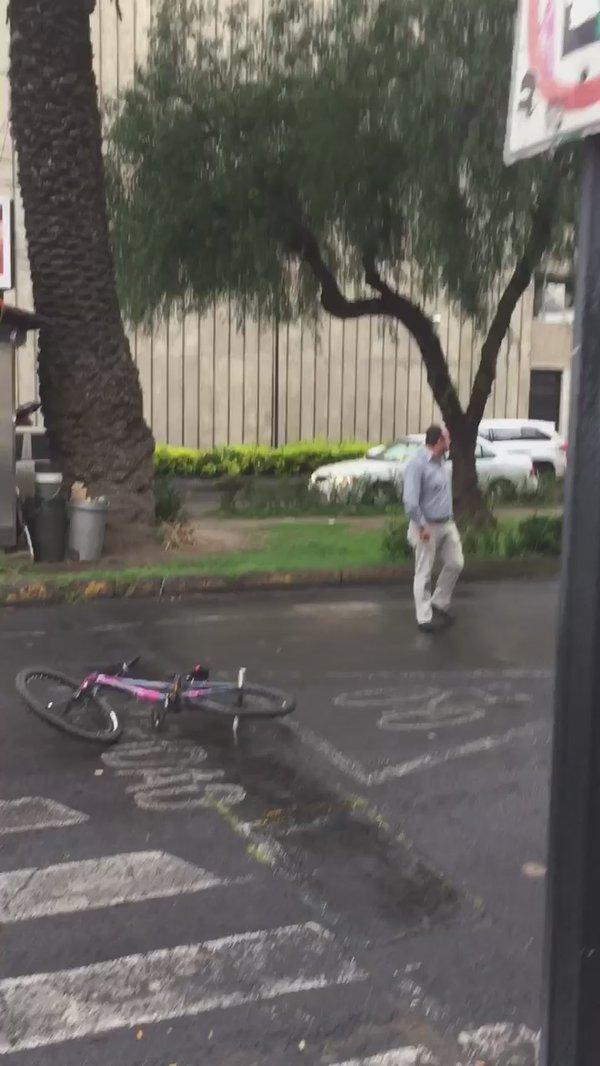 Agreden a otro ciclista- Gregorio Martínez.