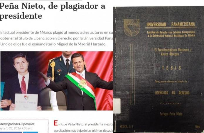 Acusan a Enrique Peña Nieto de plagiar citas en su tesis