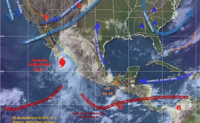 Pronóstico por el Huracán Newton- Gregorio Martínez.