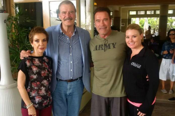 Arnold Schwarzenegger y Vicente Fox- Gregorio Martínez.Arnold Schwarzenegger y Vicente Fox- Gregorio Martínez.