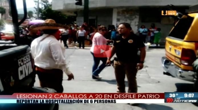 Al menos 20 lesionados durante el desfile del 16 de septiembre en Monterrey. Mire lo que ocurrió
