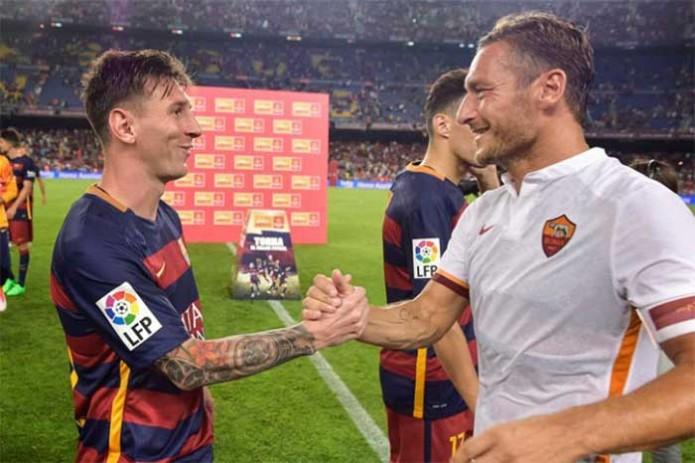 Lionel Messi, quien en un video publicado en la cuenta oficial de Facebook del delantero de la Roma lo felicitó y expresó su admiración por el jugador. Foto: Cortesía