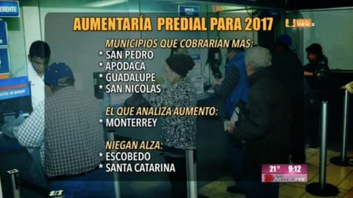 Ahí viene el aumento en el impuesto predial en la zona metropolitana de Monterrey