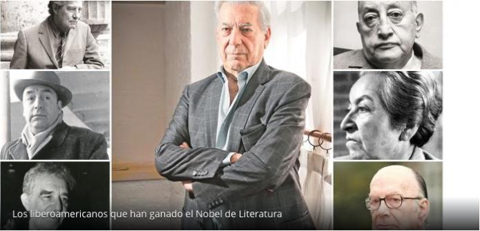 Los liberoamericanos que han ganado el Nobel de Literatura.