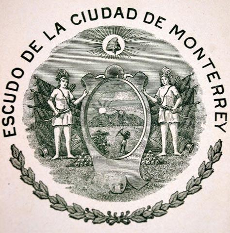 ¿Quién aprobó la creación del escudo de armas de la ciudad de Monterrey?