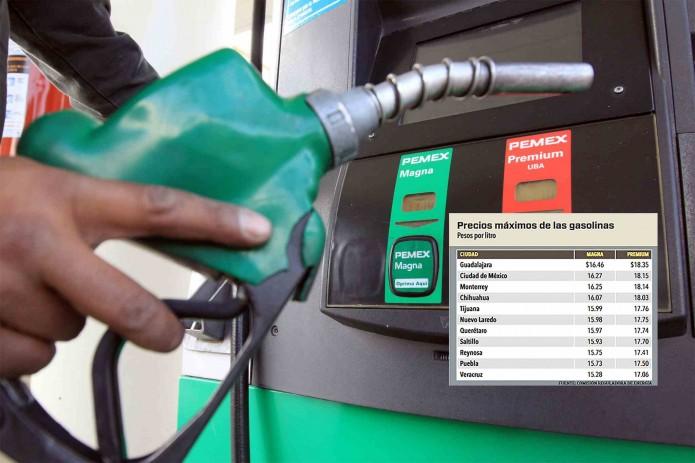 Gasolina de NL, de las más caras de todo México