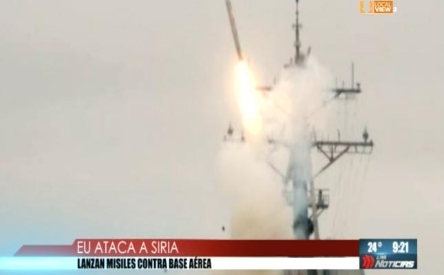 Ataca EEUU una base militar en Siria. Lanza misiles de crucero