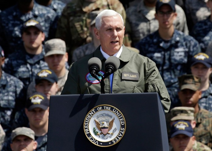 "Mike Pence a Corea del Norte: ""La espada está lista"""