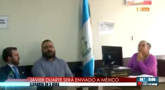 Javier Duarte será enviado a México