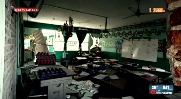 Las escuelas en Jojutla. Muchas destruidas, otras convertidas en albergues