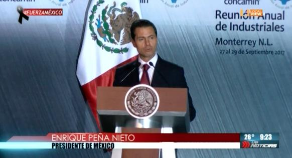 Convoca el Presidente Enrique Peña Nieto a empresarios regiomontanos a sumarse a la reconstrucción