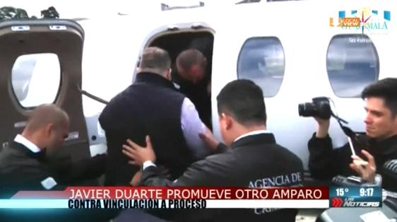 Javier Duarte promueve otro amparo contra vinculación a proceso