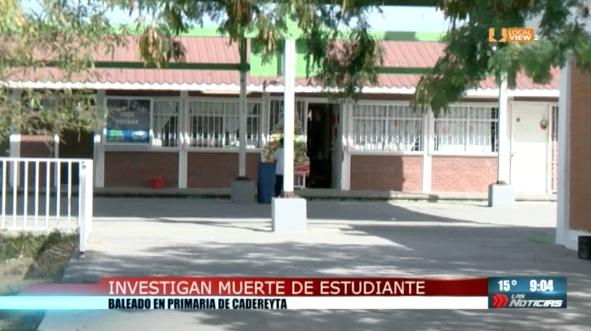 Siguen las investigaciones sobre la muerte de un alumno de sexto año de primaria en Cadereyta