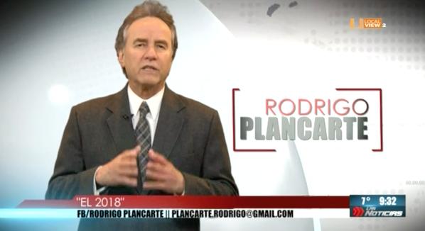 Opinión. Rodrigo Plancarte. El 2018