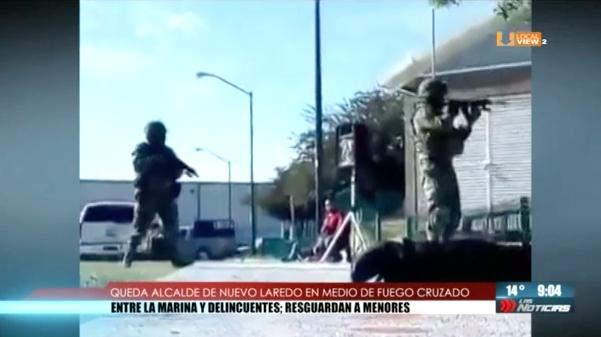 Cerca de 100 personas quedaron en medio de una balacera en Nuevo Laredo. No hubo lesionados