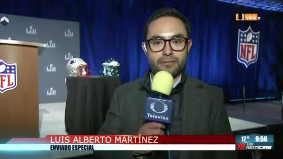 Todo listo para el #SuperBowlLII. Y se confirma el próximo juego de NFL en México. El reporte con Luis Alberto Martínez, desde Minneapolis