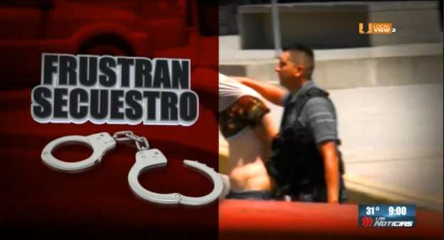 Autoridades federales y estatales se enfrentan con presuntos delincuentes, sobre la avenida Miguel Alemán, en Guadalupe