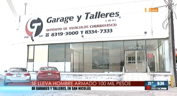 Asaltan oficinas de Garage y Talleres en San Nicolás. Se llevan 100 mil pesos