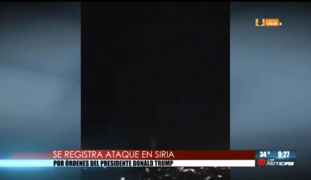 #Video del primer ataque contra Siria. El objetivo es desactivar la elaboración de armas químicas