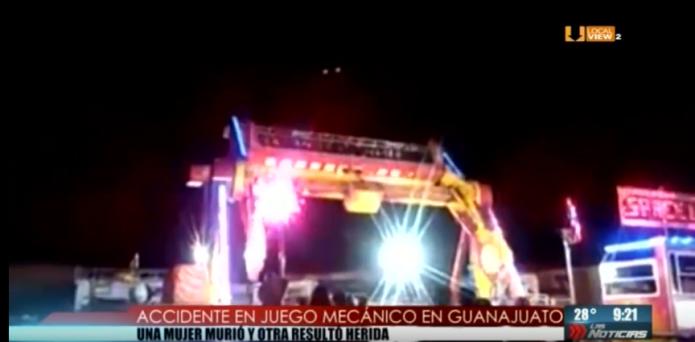 Tragedia en un juego mecánico, en una feria en Guanajuato