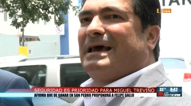 Miguel Treviño postula a Felipe de Jesús Gallo para la Secretaría de Seguridad de San Pedro