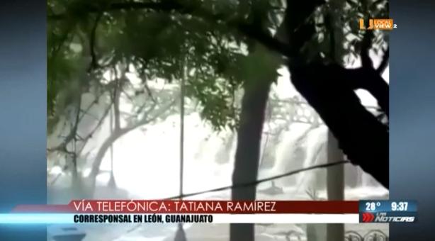 #Video de la inundación en #Guanajuato. Las lluvias provocaron el desbordamiento de la Presa de la Olla