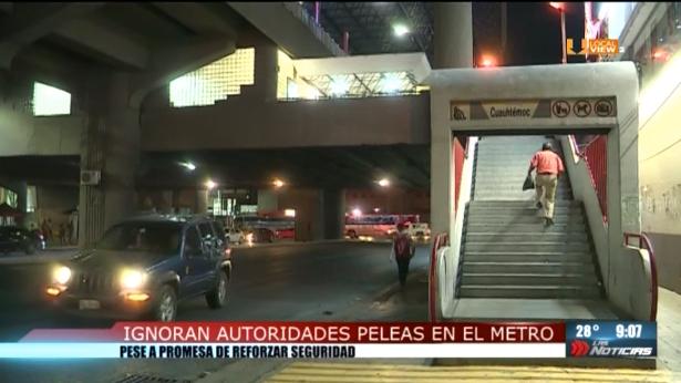 Cada vez más frecuentes las riñas en el metro de Monterrey