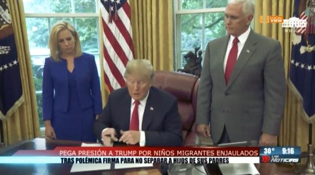 Donald Trump se vio obligado a dar marcha atrás a su política de separación de familias migrantes