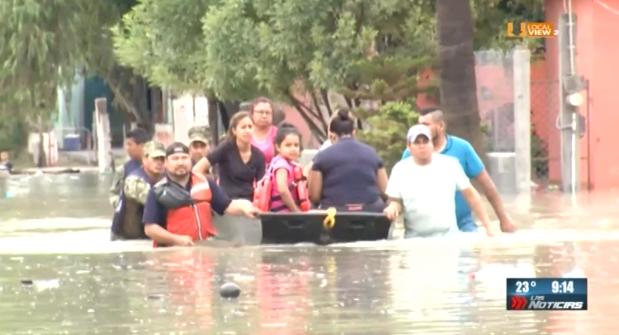 Reynosa continúa bajo el agua