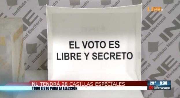 Habrá 28 casillas especiales en Nuevo León