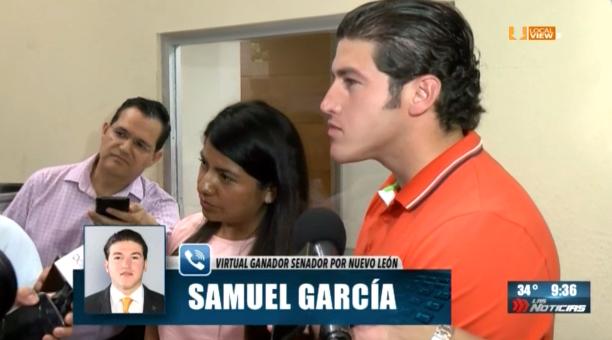 El virtual ganador de la elección para Senador, Samuel García, promete buscar consensos