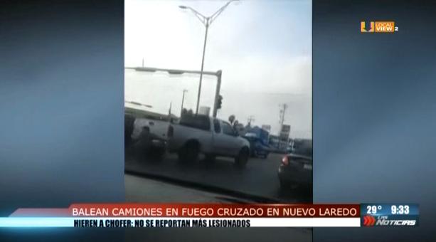 Autobuses de pasajeros quedaron en medio del fuego cruzado en Nuevo Laredo