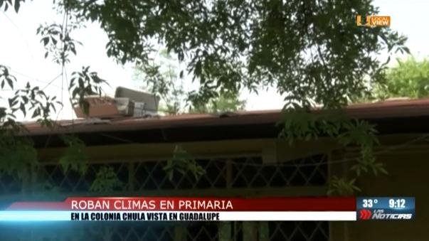 Roban climas en una escuela de Guadalupe