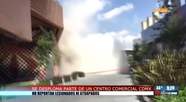 #Video del derrumbe en un centro comercial al sur de la Ciudad de México