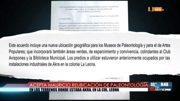 Cede Mauricio la ubicación de sus museos en San Pedro