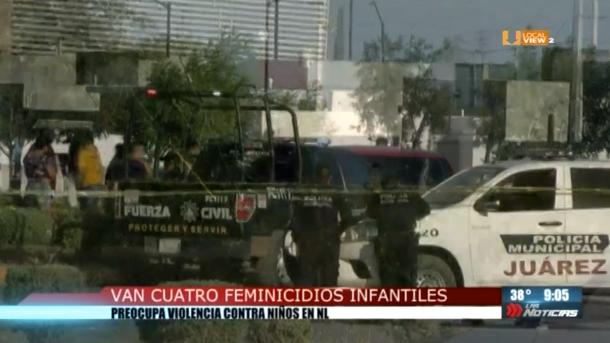Van cuatro feminicidios infantiles en Nuevo León