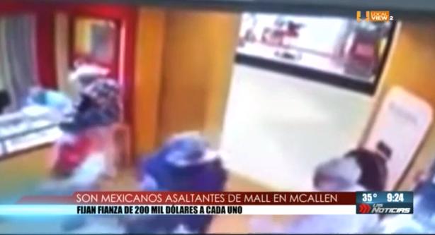 Declaran ser mexicanos los presuntos asaltantes de La Plaza Mall de McAllen