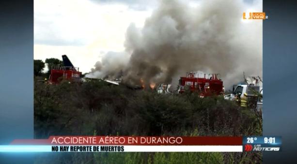 Este es el reporte y las imágenes del percance aéreo ocurrido en Durango. #Vuelo2431