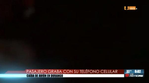 #Video. Así se vivió dentro del avión de Aeroméxico el momento del accidente en Durango