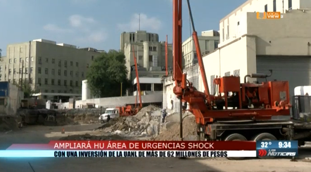 Inició la ampliación del área de urgencias y shock-trauma del Hospital Universitario