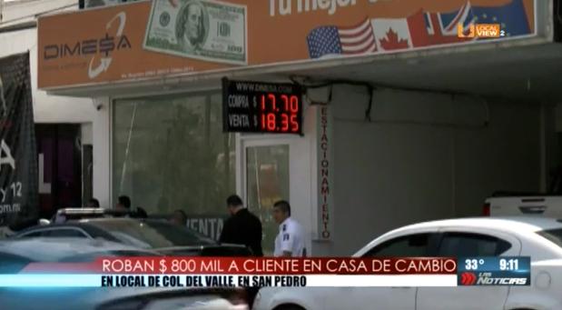 #Video del asalto afuera de una casa de cambio en San Pedro Garza García