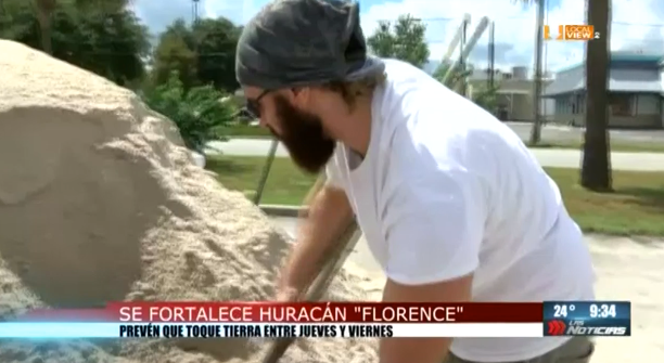 El Huracán Florence amenaza la Costa Este de los Estados Unidos