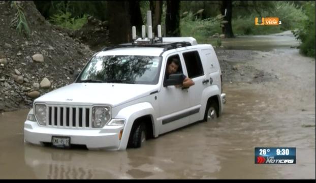 Las lluvias dejan incomunicadas a decenas de familias en Allende