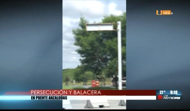 #Video de la balacera de ayer jueves en las inmediaciones del Puente Anzaldúas